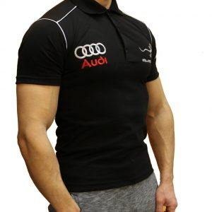 Audi Quattro black polo shirt