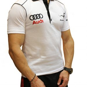 Audi Quattro white polo shirt