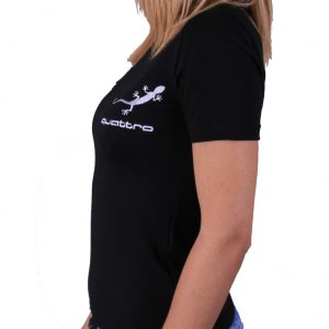 Audi Quattro Lady black t-shirt