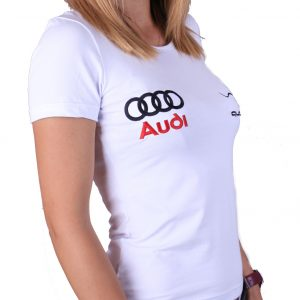 Audi Quattro lady white t-shirt