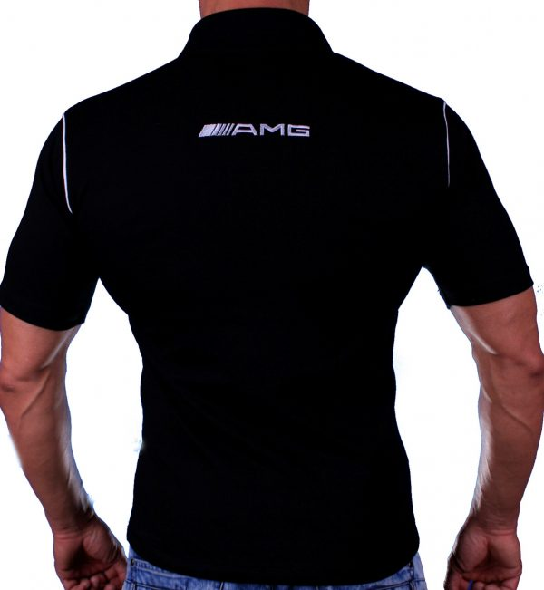 Mercedes AMG Polo black shirt