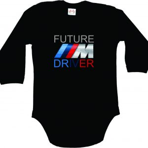 BMW M Power Future Driver Bodysuit for Baby with long sleeves