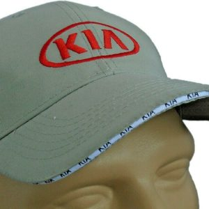 Kia-Classic-Hat-Gray-Baseball-Cap-Embroidered