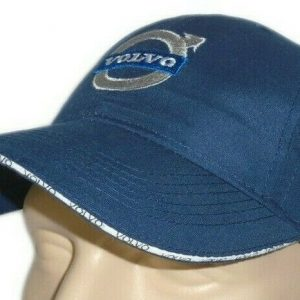 Volvo-Classic-Baseball-Cap-Blue-Hat-Logo-Embroidered