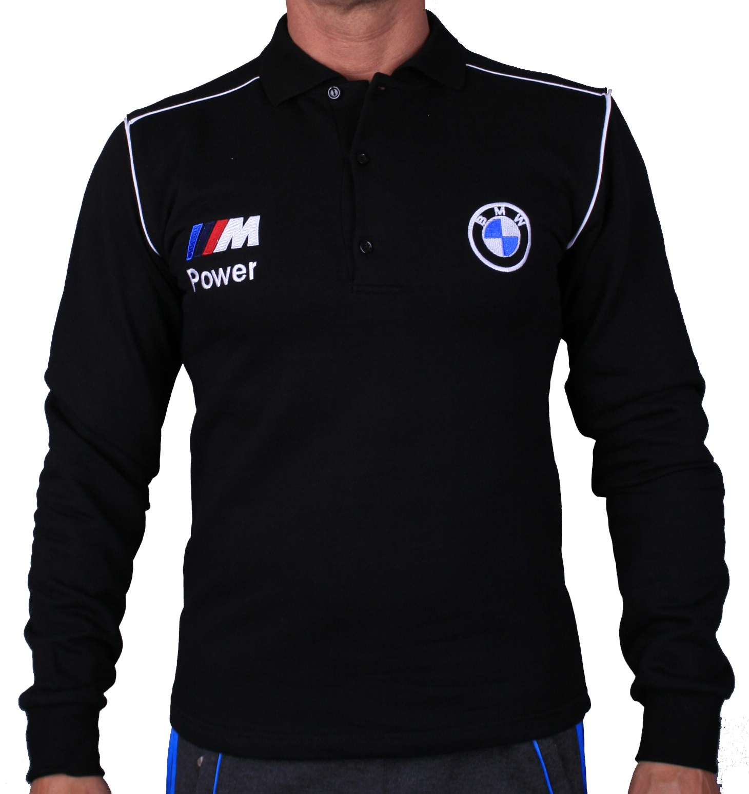 BMW Long Sleeve Polo T Shirt COTTON EMBROIDERED Auto Car Moto Logo Mens Clothing