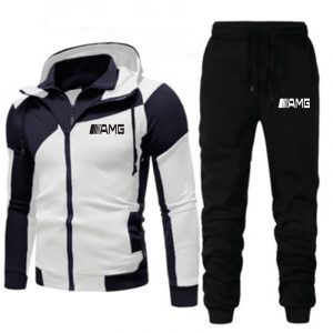 AMG-Men-s-Sportswear-Sets-Zipper-Hoodie-and-Pants-Casual-Two-piece-Tracksuit-Novelty-Autumn-Winter