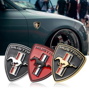 New-3D-Metal-Chrome-Car-Styling-Running-Horse-Emblem-Badge-For-Ford-Mustang-Shelby-GT-fender