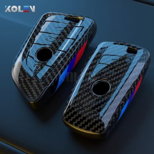 ABS-Carbon-Fiber-Style-Car-Key-Case-Cover-Shell-Fob-For-BMW-X3-X5-X6-F30
